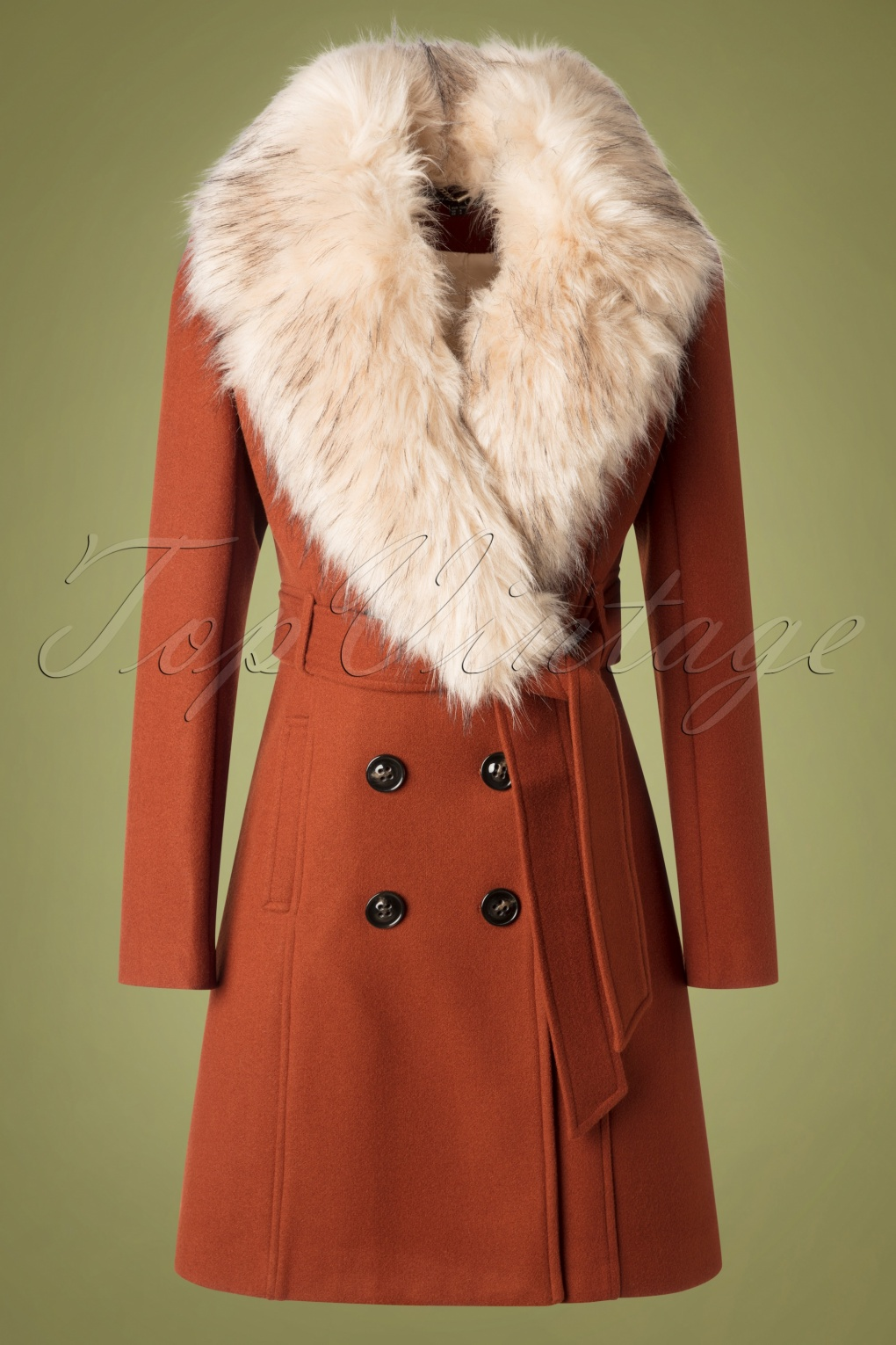1960s Style Dresses, Clothing, Shoes UK 60s Tirza Coat in Tabacco £132.71 AT vintagedancer.com