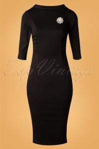 Unique Vintage 29954 Lucinda Pencil Dress in Black 20190924 007 W