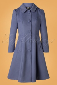 50s Esme Swing Coat in Blue