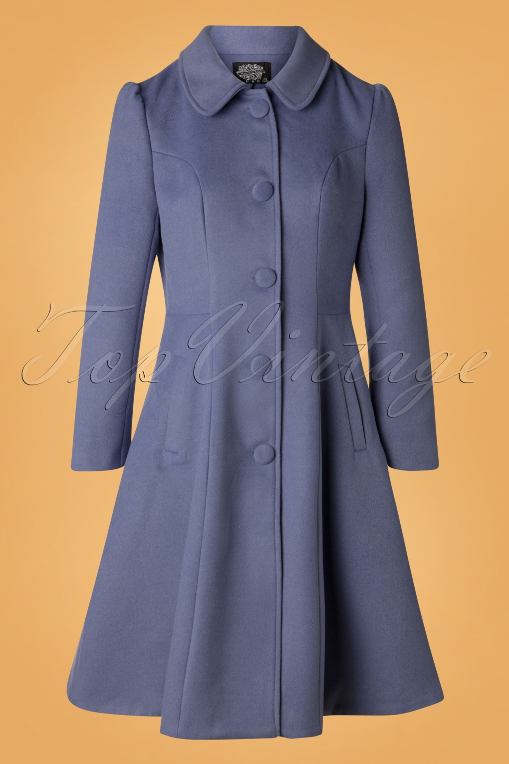 Vintage Coats & Jackets | Retro Coats and Jackets 50s Esme Swing Coat in Blue £97.90 AT vintagedancer.com
