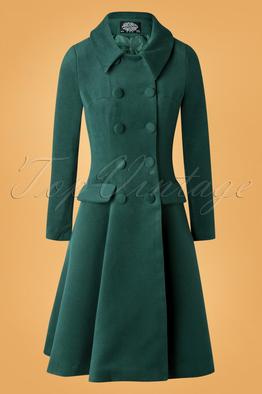 Vintage Coats & Jackets | Retro Coats and Jackets 50s Evelyn Swing Coat in Green £97.90 AT vintagedancer.com