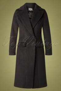 60s Eloise Vintage Coat in Black