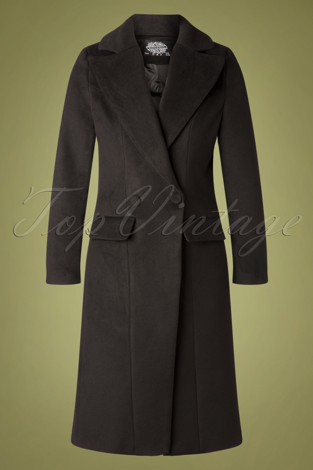 1940s Coats & Jackets Fashion History 60s Eloise Vintage Coat in Black £94.73 AT vintagedancer.com