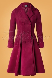 50s Eleanor Swing Coat in Wine Red
