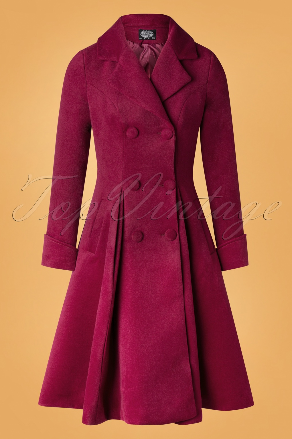 Vintage Coats & Jackets | Retro Coats and Jackets 50s Eleanor Swing Coat in Wine Red £97.90 AT vintagedancer.com