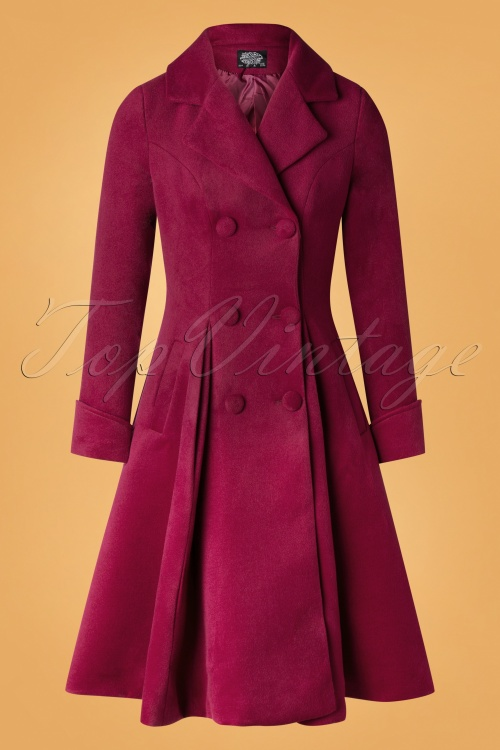 Hearts Roses 31115 Coat Burgundy 09252019 003W