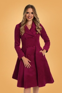 Hearts & Roses 31115 Coat in Burgundy 20190917 020L