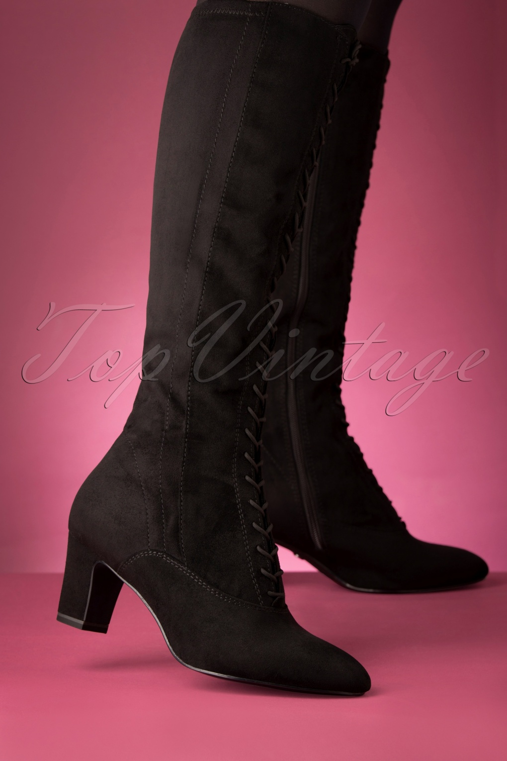 Vintage Boots- Winter Rain and Snow Boots 70s Lori Suedine Boots in Black £68.88 AT vintagedancer.com