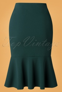 Vintage Chic 32441 Pencilskirt Green Forest 09252019 004W
