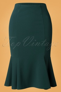 Vintage Chic 32441 Pencilskirt Green Forest 09252019 002W