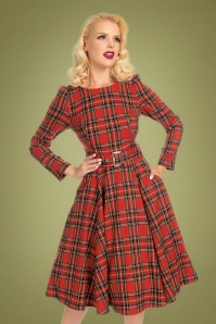 Hearts & Roses 31130 Red Check Swing Dress 20190917 020LW
