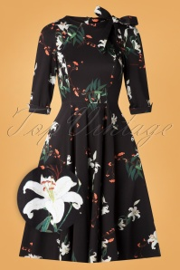 Hearts and Roses 31124 Navy Floral Swing Dress 20190924 006Z