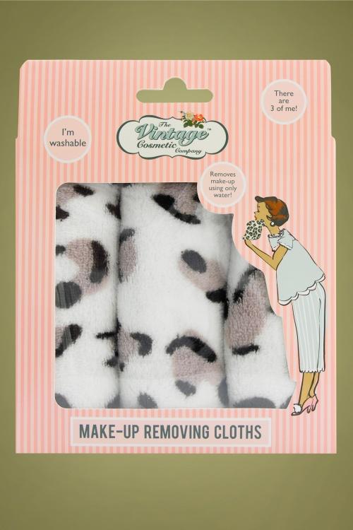 Vintage Cosmetic 32352 Make up Removing Cloths Leopard Print 20190918 020L
