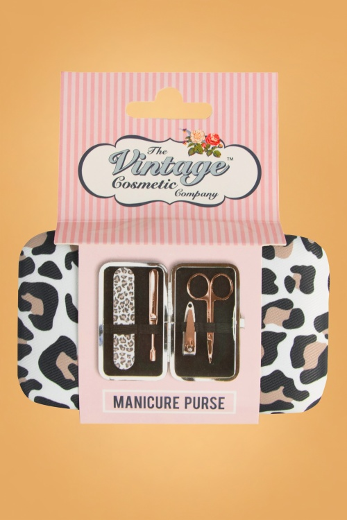Vintage Cosmetic 32351 Manicure Purse Leopard Print 20190918 020L copy