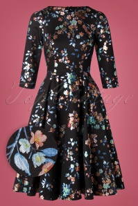 Hearts Roses 31119 Swingdress Black Floral 20190925 002W1