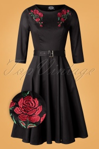 Hearts Roses 31112 Swingdress Black Roses 20190925 007Z
