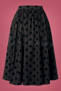 Heart & Roses 31118 Black Polka Dot Skirt 0011W