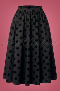 Heart & Roses 31118 Black Polka Dot Skirt 0005W