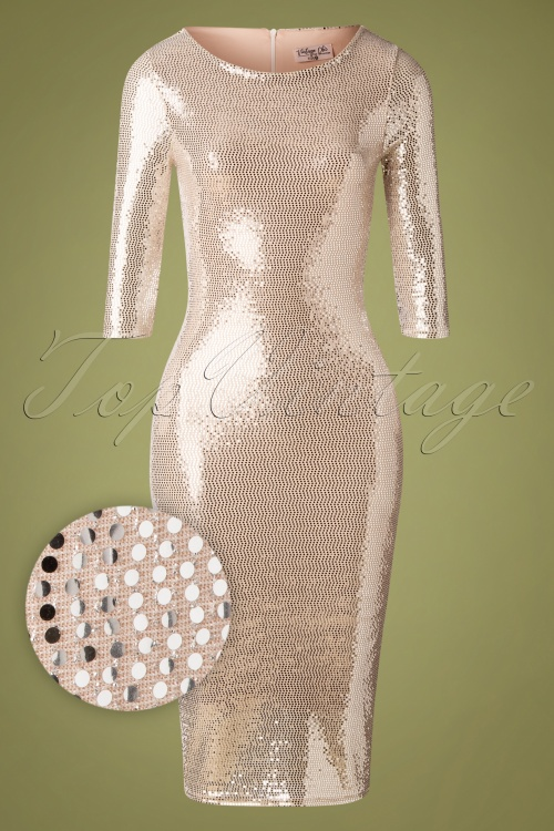Vintage Chic 31627 Silver Pencil Dress 20190927 002W1