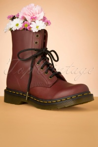 1460 Wanama Ankle Boots in Cherry Red