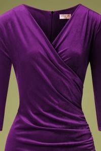 Vintage Chic 31527 Purple Velvet Pencil Dress 20190927 003V