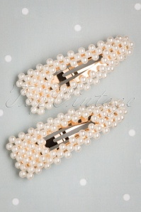 50s Pearl Hairclips in Gold