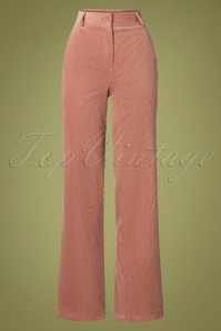 La Petite Francaise 70s Patty Pantin Corduroy Pants in Pale Pink