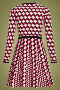 Smashed Lemon 30240 Black Red White A Line Dress 20190920 020LW