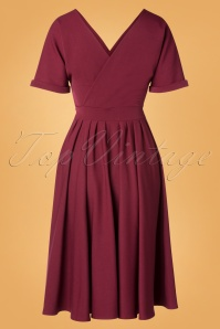 Miss Candyfloss 31011 Swing Dress Wine 0025W