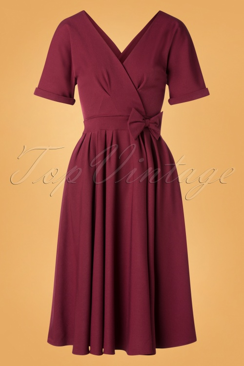 Miss Candyfloss 31011 Swing Dress Wine 0011W