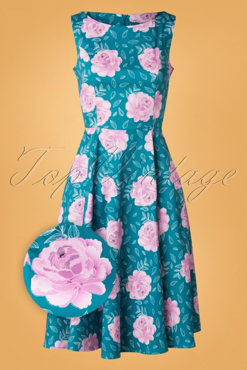 Topvintage Boutique 31239 Adriana Swing Blue 0004Z