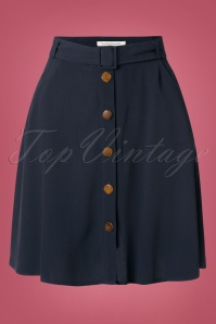 60s Judo Skirt in Marine
