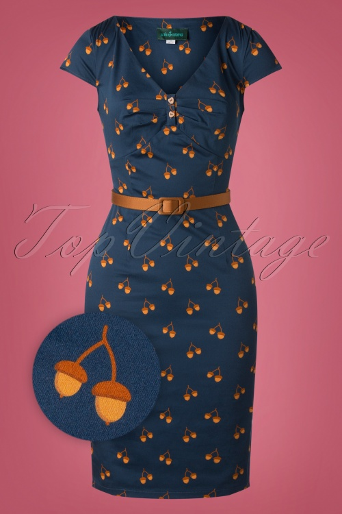 La Ventineuve 29943 Irene dress blue 0006Z