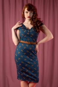 La Veintinueve 29943 Irene Dress in Blue Nuts 20190923 020L