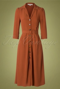 70s Robe Rivalité Dress in Noisette