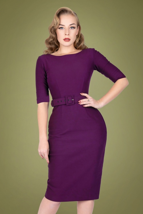 Zoe Vine 31059 Pencildress Margot Aubergine 20190924 020LW