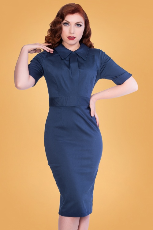 Sheen 30956 Odette Dress in Navy 20190927 020L
