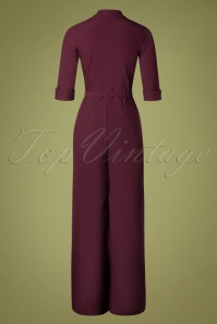 Daisy Dapper 32013 Francine Jumpsuit in Burgundy 20190927 011W