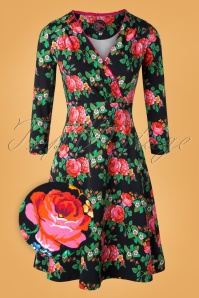 Tante Betsy 29173 Swingdress Swirley Black Floral 09302019 002Z