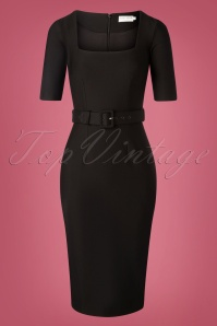 Zoe Vine 31060 Pencildress Paris Black 09302019 003W