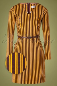 4FF 29090 Pencildress Stripes Okar Brown 09302019 001Z