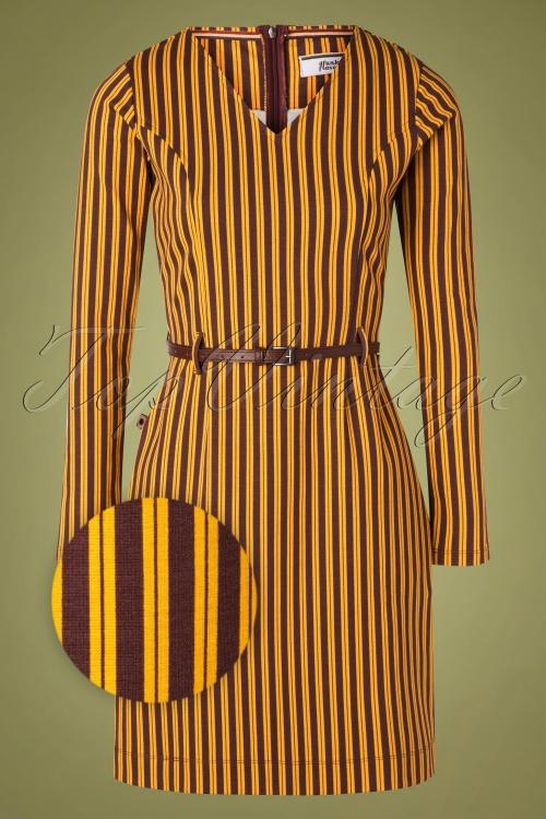 4FF 29090 Pencildress Stripes Okar Brown 09302019 001Z