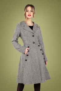 Vixen 30951 Macie Herringbone Coat in Grey 20190528 020L