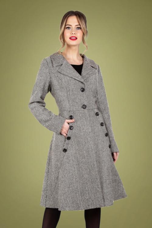 Vixen 30951 Macie Herringbone Coat in Grey 20190528 020L