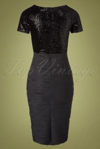 Vintage Chic 31541 Pencildress Black Sequin Glitter 09302019 009W