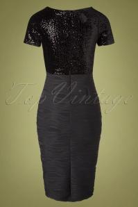 Vintage Chic 31541 Pencildress Black Sequin Glitter 09302019 009W