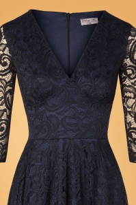 Vintage Chic 32534 Swingdress Navy Lace 09302019 001V