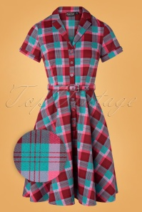 Vixen 30896 Swingdress 50s Piper Multy Checked 10012019 005Z