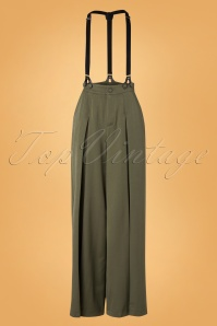 40s Martha Trousers in Khaki