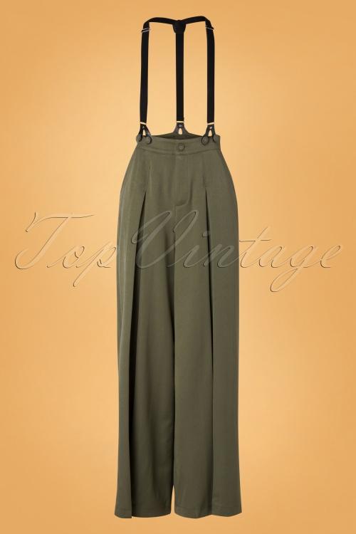 Vixen 30928 Pants 40s Martha Olive 10012019 002W